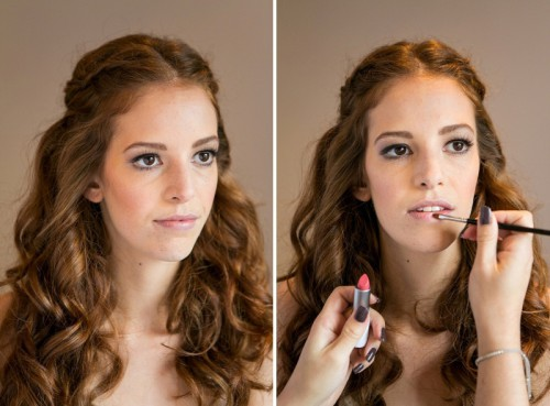 Beautiful DIY Fall Wedding Makeup In Pastel Shades And Golden Tones
