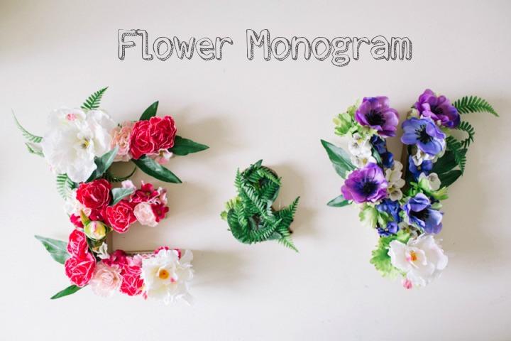 Picture Of beautiful diy flower monogram for wedding decor  1