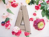 sofia plana wedding photography floral monogram styling DIY