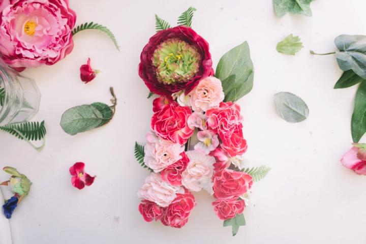 sofia plana wedding photography floral monogram styling DIY