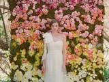 a stylish ombre wedding backdrop