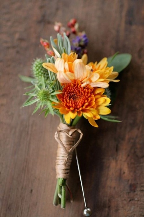 42 Beautiful Fall Wedding Boutonnieres Weddingomania