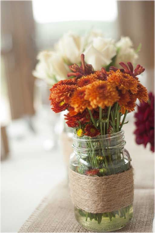 Picture Of Beautiful Fall Wedding Centerpieces