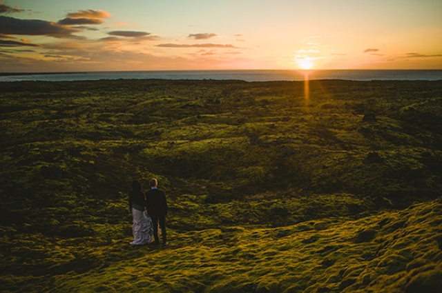 Picture Of beautiful iceland elopement with polar lights  14