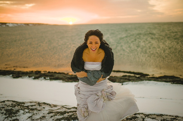 Picture Of beautiful iceland elopement with polar lights  15