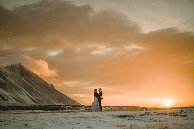 Picture Of beautiful iceland elopement with polar lights  17