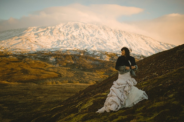 Picture Of beautiful iceland elopement with polar lights  4