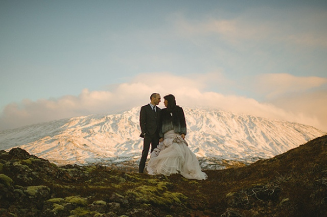 Picture Of beautiful iceland elopement with polar lights  5
