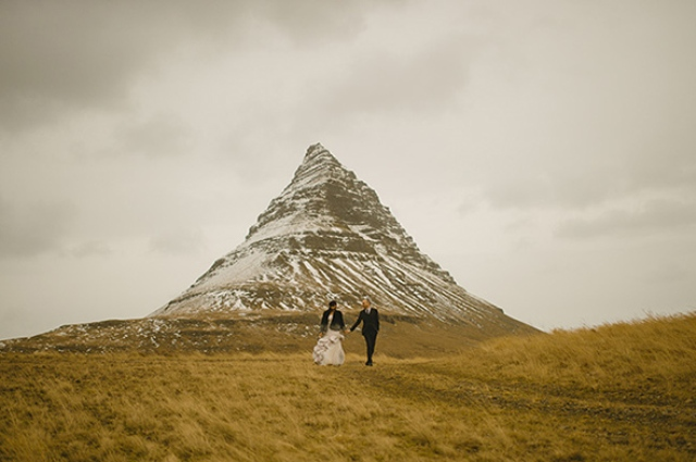 Picture Of beautiful iceland elopement with polar lights  6