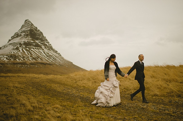 Picture Of beautiful iceland elopement with polar lights  7
