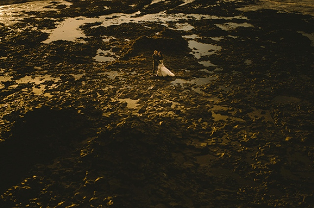Picture Of beautiful iceland elopement with polar lights  8