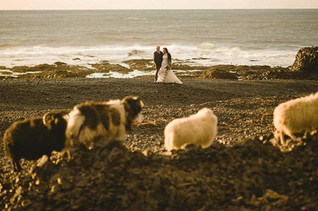 Picture Of beautiful iceland elopement with polar lights  9
