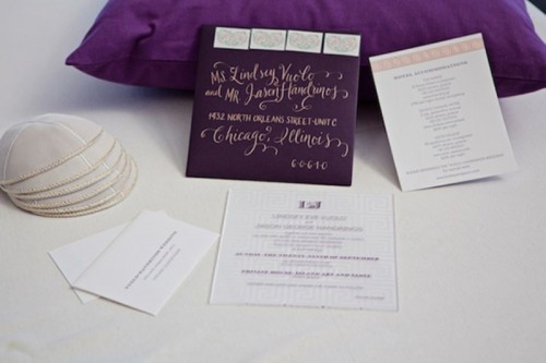 Beautiful Shades Of Purple Destination Wedding In Athens