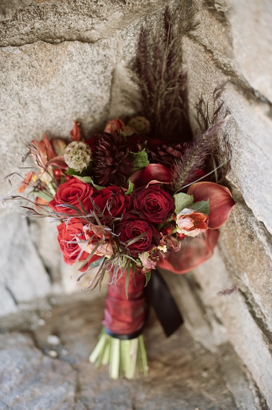 Red Winter Flowers For Wedding - Flowers Healthy