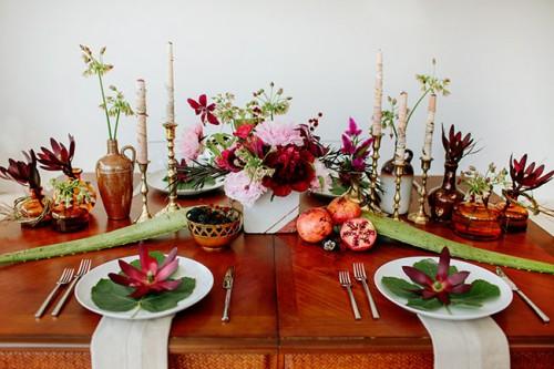 Berry-Hued And Blush Botanical Wedding Shoot
