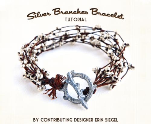 silver branches bracelet (via shelterness)