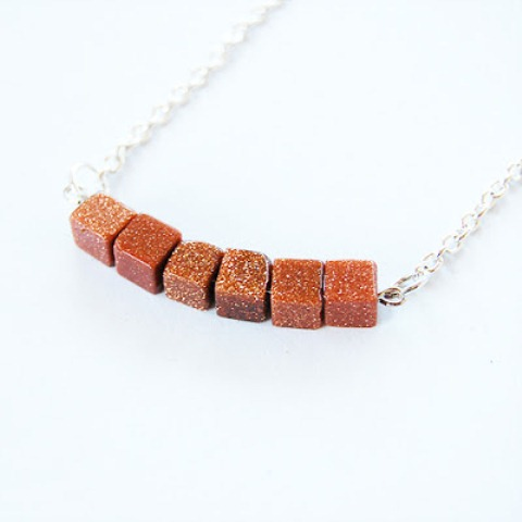 goldstone beads necklace