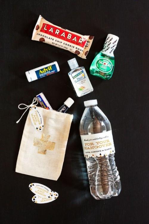 Wedding Guest Gift Diy : The Best Guest Favor Ever: DIY Wedding Hangover Kit - Weddingomania
