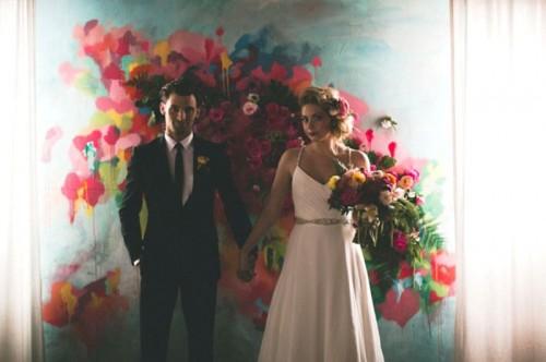 Beyond Gorgeous Artful Indoor Wedding Inspiration