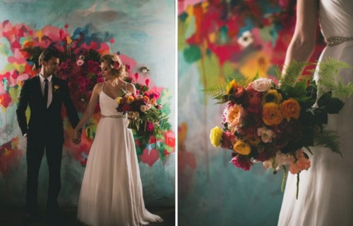 Beyond Gorgeous Artful Indoor Wedding Inspiration