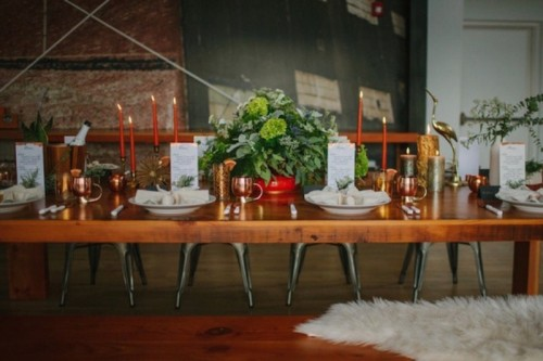 Black And Orange Retro Meets Modern Wedding Inspiration