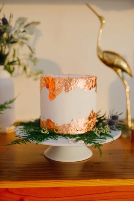 Picture Of black and orange retro meets modern wedding inspiration  18