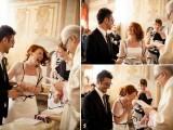 Black And White Italian Wedding With A Retro Twist