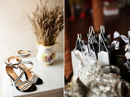 Black And White Italian Wedding With A Retro Twist
