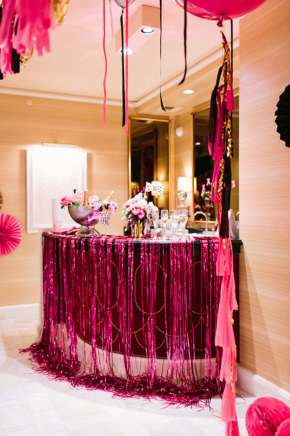 Picture Of Black Pink And Gold Bachelorette Party In Las Vegas 19