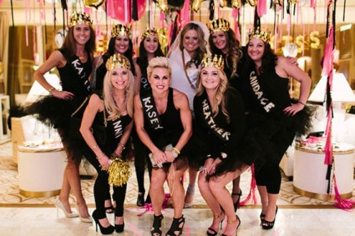 Black Pink And Gold Bachelorette Party In Las Vegas