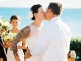 Black Yellow And White Maui Destination Wedding