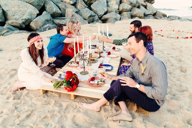 Bohemian Beach Wedding With An Oyster Bar