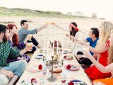 Bohemian Beach Wedding With An Oyster Bar