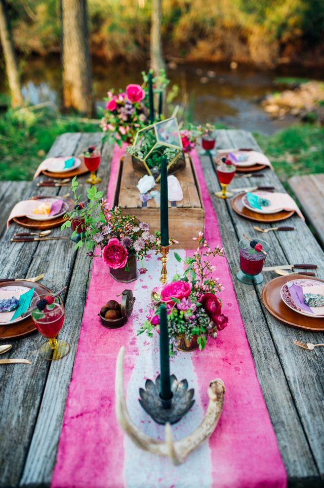 40 Boho Chic Wedding Table Settings To Get Inspired : moroccan table settings decor - Pezcame.Com