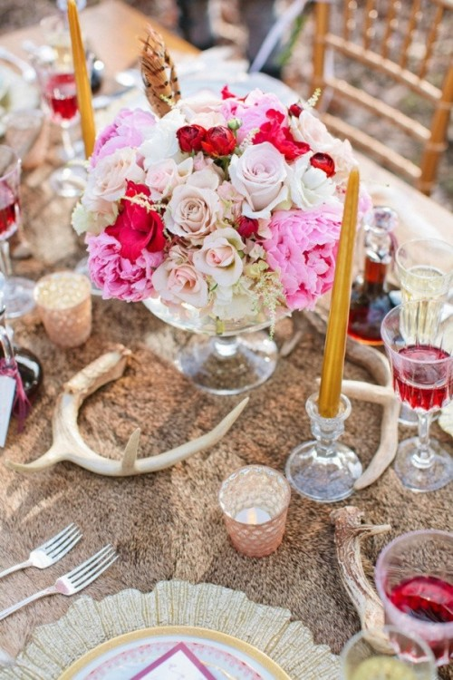 Boho Chic Wedding Table Settings To Get Inspired : moroccan table settings decor - pezcame.com