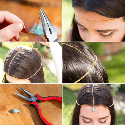 Boho Inspired Diy Head Chain Bridal Accessory