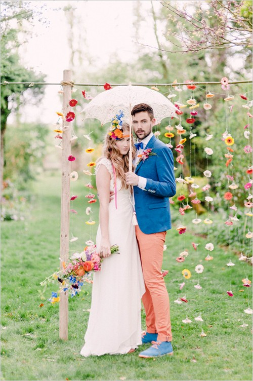 Boho-Inspired Greenhouse Wedding With Tons Of Color
