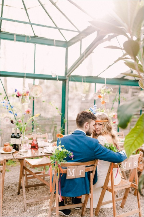 Boho Inspired Greenhouse Wedding With Tons Of Color