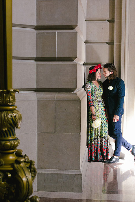 Boho San Francisco City Hall Elopement