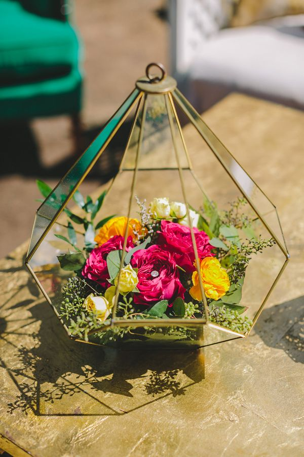 Picture Of Bold And Eye Catching Boho Chic Wedding Centerpieces 1