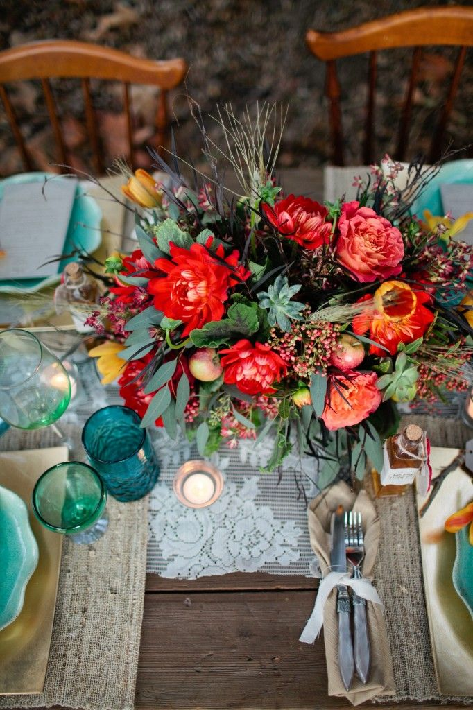 Picture Of Bold And Eye Catching Boho Chic Wedding