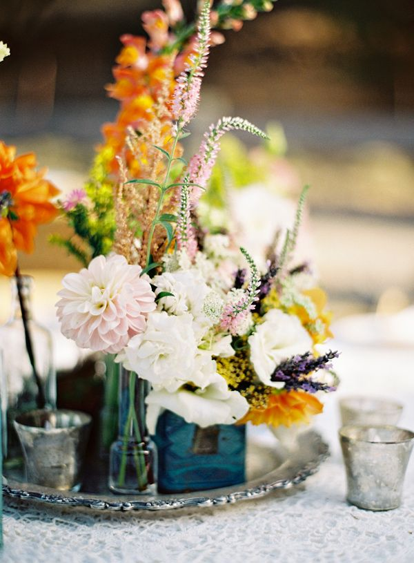 Picture Of Bold And Eye Catching Boho Chic Wedding Centerpieces 14