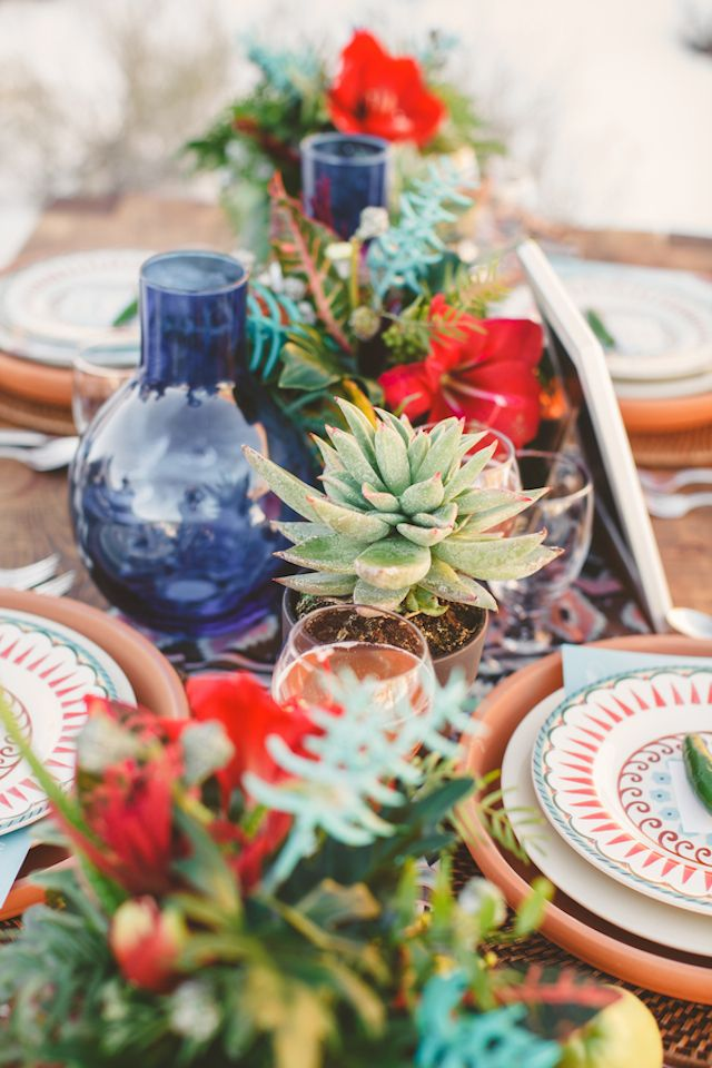 Picture Of Bold And Eye Catching Boho Chic Wedding Centerpieces 18
