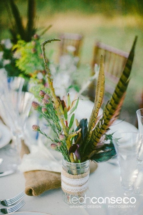 Bold And Eye Catching Boho Chic Wedding Centerpieces