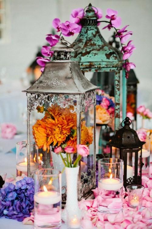 34 Bold And Eye Catching Boho Chic Wedding Centerpieces