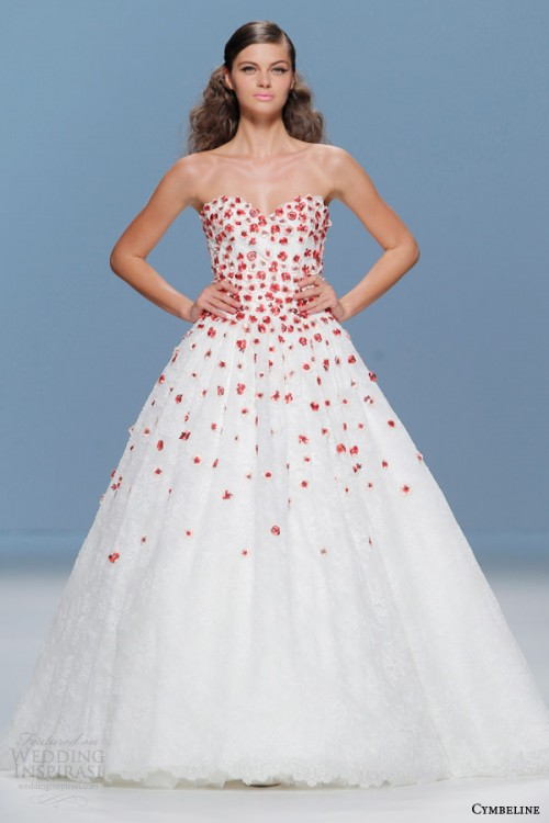 Bold Colored Wedding Dresses By Cymbeline Bridal 2015