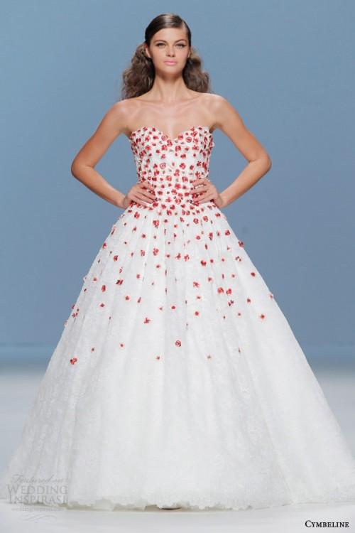 Bold Colored Wedding Dresses