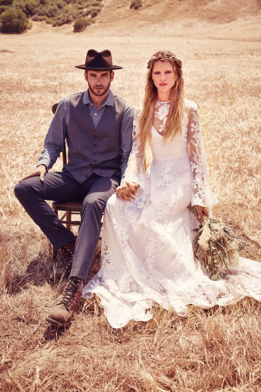 Picture Of breathtaking free people ever after boho bridal dresses collection  7