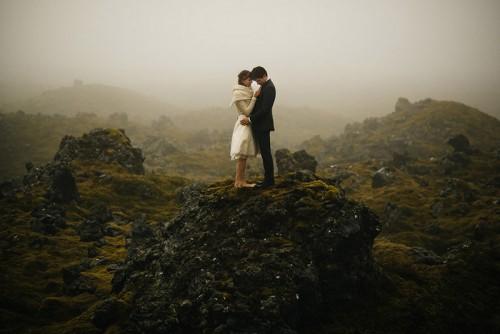 Breathtaking Icelandic Black Church Elopement