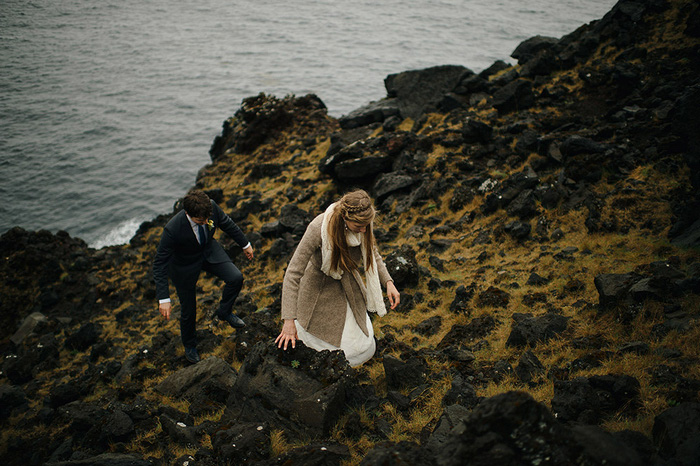 Picture Of breathtaking icelandic black church elopement  20